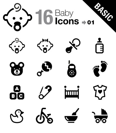 Photo for Basic - Baby icons - Royalty Free Image
