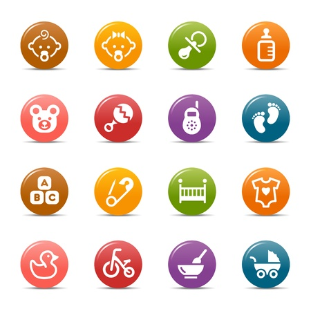 Photo for Colored Dots - Baby icons - Royalty Free Image