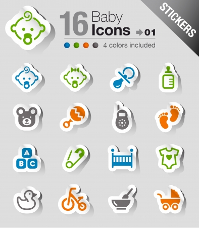 Photo for Stickers - Baby icons - Royalty Free Image