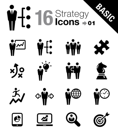 Basic - Business strategy and management icons