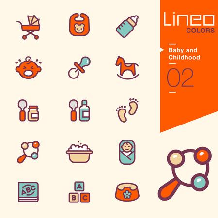 Foto de Lineo Colors - Baby and Childhood icons - Imagen libre de derechos