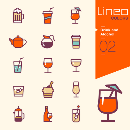 Lineo Colors - Drink and Alcohol icons