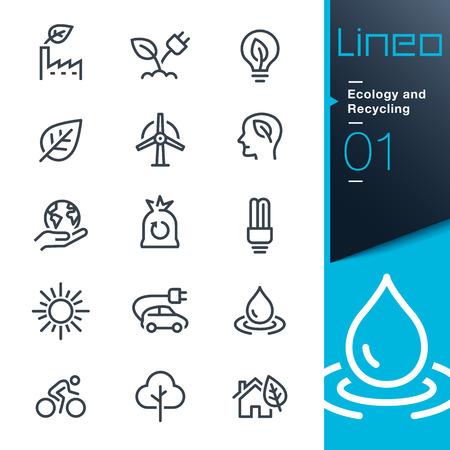 Ilustración de Lineo - Ecology and Recycling line icons - Imagen libre de derechos