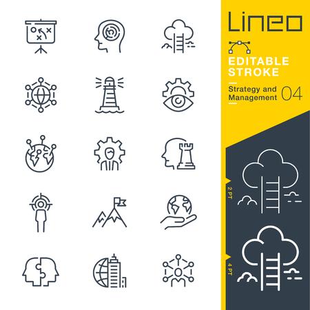 Vektor für Lineo Editable Stroke Strategy and Management outline icons - Lizenzfreies Bild