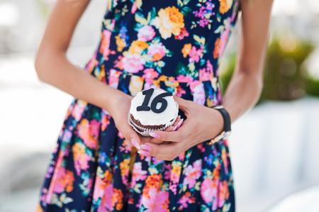 Girl celebrates '16