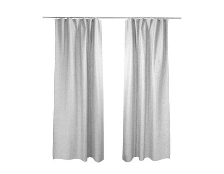 Photo pour White grey curtains Isolated On White background - image libre de droit