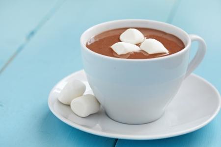 Photo pour Hot chocolate with marshmallows - image libre de droit