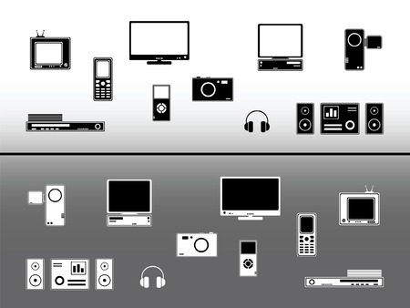 Electronic devices. Technology and communication design elements