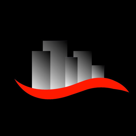 Abstract skyscrapers- logo for real estate or architecture firm