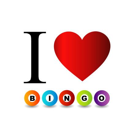I love bingo with colorful bingo balls