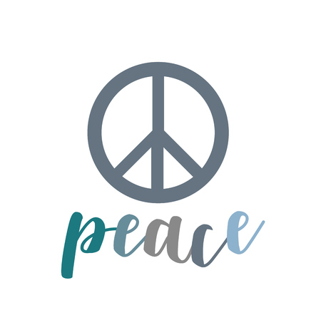 Peace- The symbol of peace The symbol is internationally recognized symbol to represent peace. Also called nuclear disarmament symbol