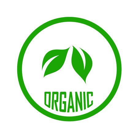 Illustration for Leaves showing Organic food sign  leaf symbolizing Vegetarian friendly diet by European Vegetarian Union - Royalty Free Image