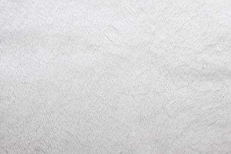 Close up of fluffy white fur texture