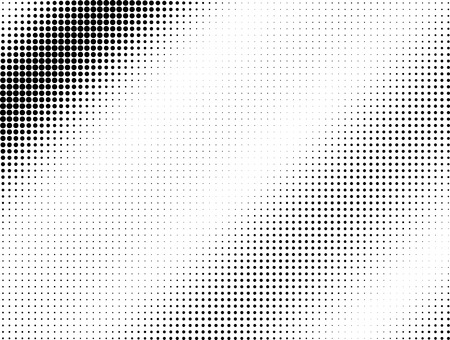 Halftone black dotted wave background pattern