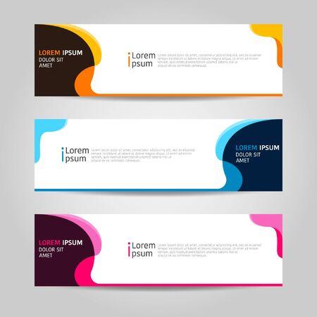 Illustration pour Colorful Banner background design. modern abstract template design. Vector graphic illustration - image libre de droit