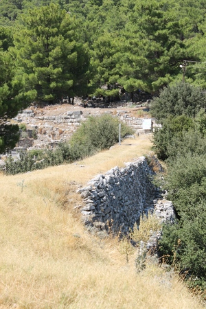 Priene ruins of an ancient antique city in Turkey