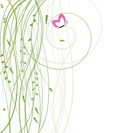Abstract background with butterfly. Vector illustration