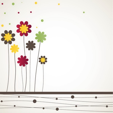Background with flowers. illustration
