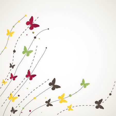 Background with Butterfly. illustration
