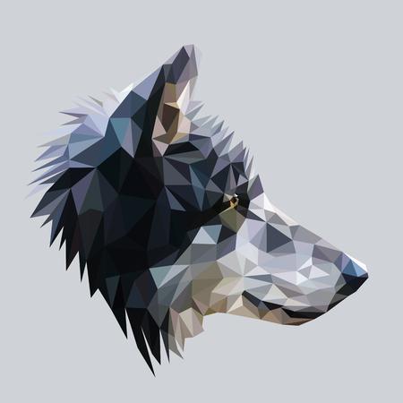 Ilustración de Wolf low poly design. - Imagen libre de derechos