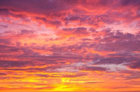 Beautiful Vibrant Sunset Sky