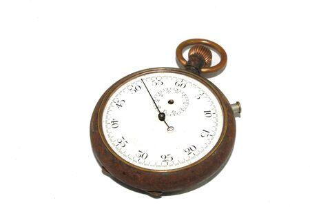 Photo pour Clock Watch Timepice on White Background Vintage Antique - image libre de droit