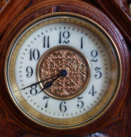 Foto de Clock Watch Timepice on White Background Vintage Antique - Imagen libre de derechos