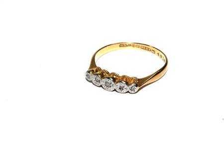 Photo pour Ladies Vintage Antique Gem Jewellery On White Background - image libre de droit