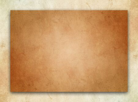 Photo for A dark brown parchment texture over a beige stone background. - Royalty Free Image