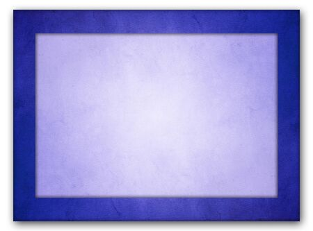 Photo pour An isolated picture frame with an rich blue grunge texture frame and a light blue interior texture with glowing center. - image libre de droit