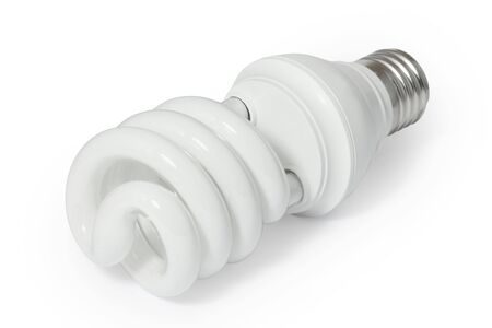 Energy saving fluorescent light bulb (CFL).
