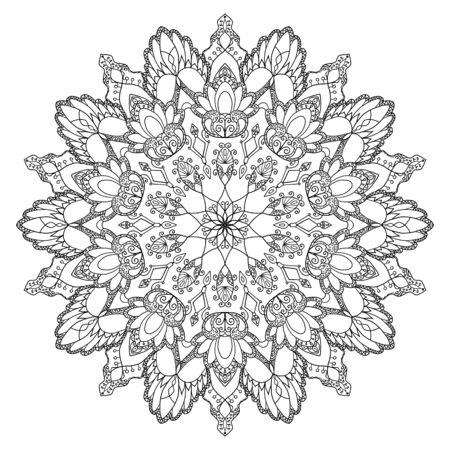 Photo pour Mandala design, meditation ornament. colouring - image libre de droit