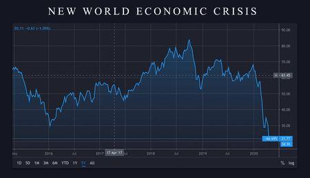 Photo for economic crisis panic stock market crash graph. Stock market price fall down. World crisis panic. Economy crisis - Royalty Free Image