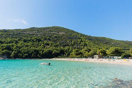 Photo pour turquoise sea lagoon beach - image libre de droit