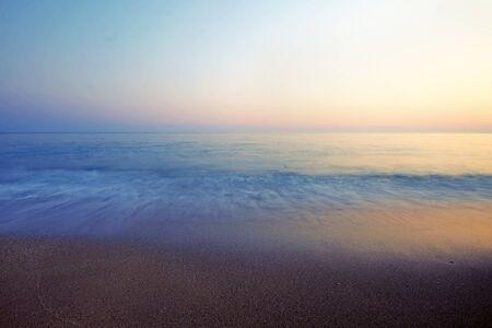 Photo pour Vrachos. Greece. A beach in a hot summer night - image libre de droit