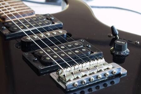 Guitar bridge and string