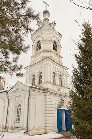small rural Orthodox Church of white brick