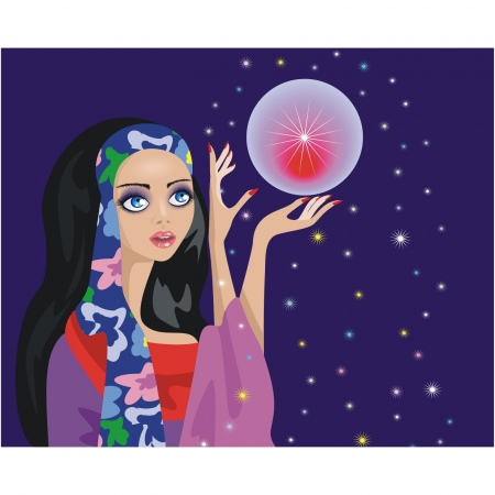 fortune-teller  with a magic ball