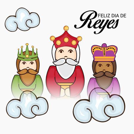 Feliz Dia De Reyes Fotos.Happy Epiphany Feliz Dia De Reyes Royalty Free Vector