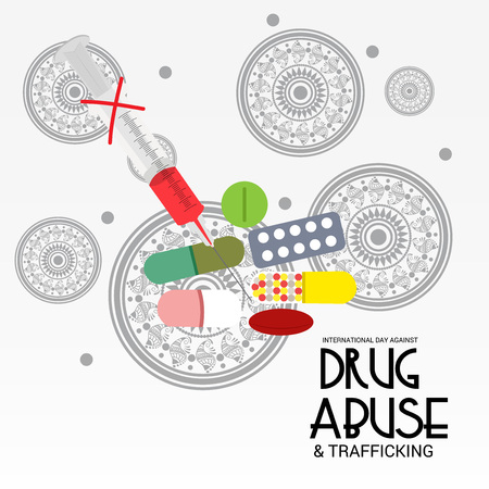 International Day against Drug Abuse : Royalty-free vector