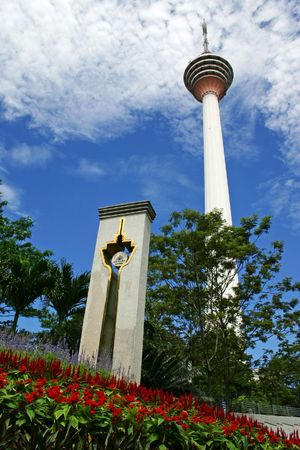Kuala Lumpur Tower, a commucation tower in Malaysia.