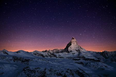 Photo for Matterhorn peak, Zermatt, Switzerland. - Royalty Free Image