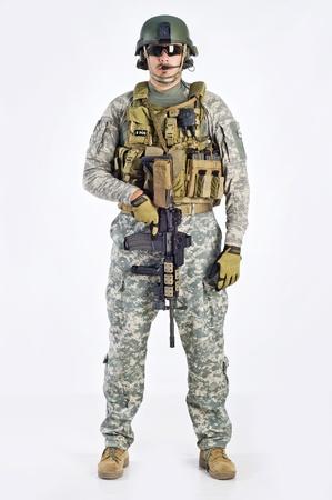 SWAT Team Officer on white background