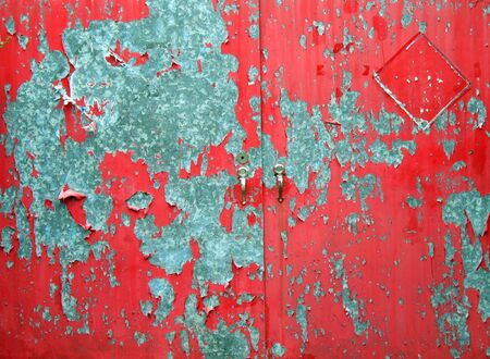 Old Iron Gate -- with red paint that is peeling off
