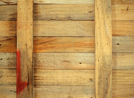 A closeup image of an old wooden crate