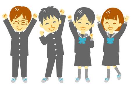 Illustration pour Student, shout for joy - image libre de droit