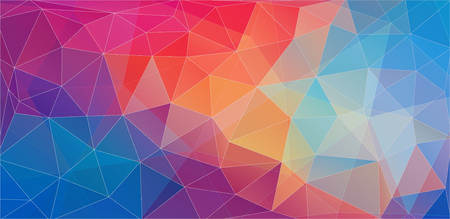 Illustration for Flat triangle color geometric wallpaper for your proect - Royalty Free Image