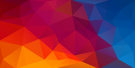 Illustration for Colorful flat background with gradient triangle shapes - Royalty Free Image