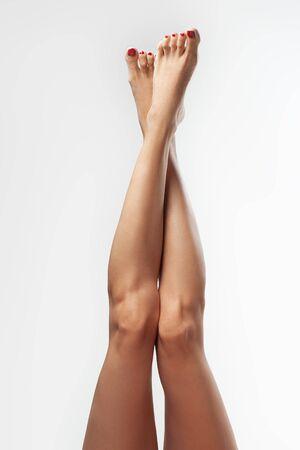 Photo pour Female legs. Spa beauty concept.Foot care. - image libre de droit