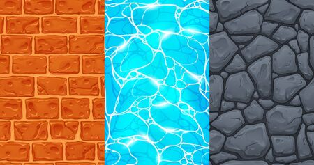 Set of seamless textures for game development